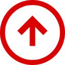 up, trend, direction, arrow, negative icon