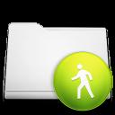 public, folder, white icon