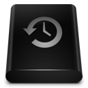 drive, black, backup icon