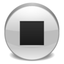 stop,player icon