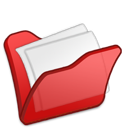 red, mydocuments, folder icon