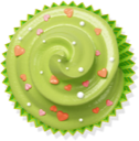 cupcake, cake, muffin, green icon