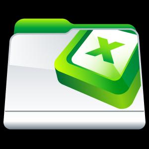 folder, microsoft, excel icon