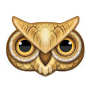 owl, animal icon
