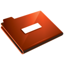minus, folder, red icon