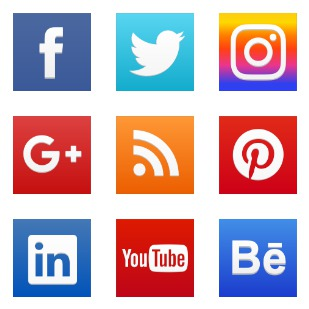 New social network icon sets preview
