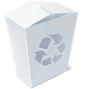 trash, recycle bin, full, garbage icon