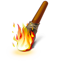 torch, fire icon