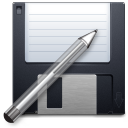 filesaveas, save, paint, pen, edit, disc, writing, write, disk, pencil, save as, draw icon