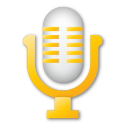 microphone, yellow, mic icon