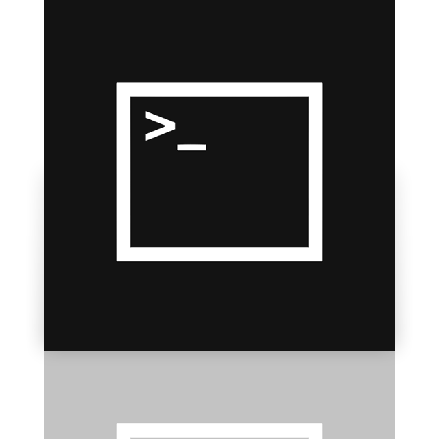 mirror, prompt, command icon