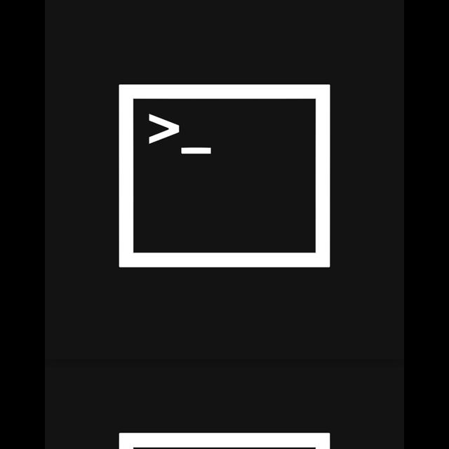 mirror, prompt, command icon