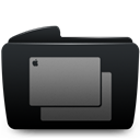 Black, Folder, Wallpapers icon