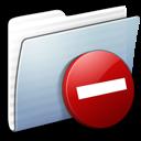 Graphite Stripped Folder Private icon