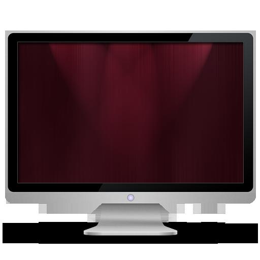 computer, dark, my computer, red icon