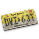 new, license, jersey, plate icon
