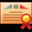 license, graduation, diploma icon