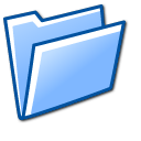 blue, folder, open icon