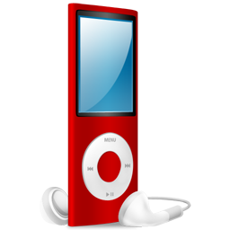 nano, ipod, red, red on icon
