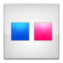 flickr,frameless icon