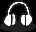 mic, creative, multimedia, music, handrawn, shape, headphone icon