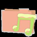 Carton, Folder, Music icon