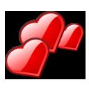 love, hearts icon