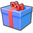 blue,giftbox icon