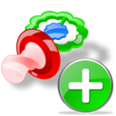 Add, Pacifier icon