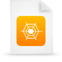 paper, file, orange, document icon