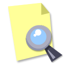 seek, document, find, file, paper, search icon