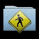 folder, public, blue icon