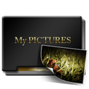 Gold, Mypictures icon