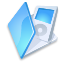 folder, blue, ipod icon