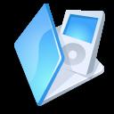 folder, blue, ipod icon
