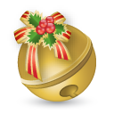 christmas, bell icon