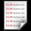 Data, Log, Text, x icon
