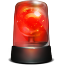 alarm, siren, red, robbery, warning icon