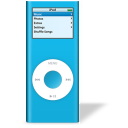 bleu, nano, ipod icon