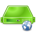 server,web,green icon