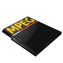 paper, file, mpeg, mpg, document, video icon