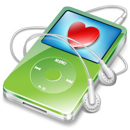 favorite, green, ipod, video icon