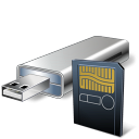 USB Flash Card With Card Reader icon