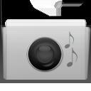 folder, music, graphite icon