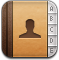 contact, adress book icon