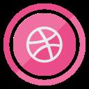 logo, social, media, dribbble icon