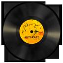 vinyl, orange icon