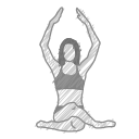 health, exercise, body, yoga, pose, fitness, meditation icon