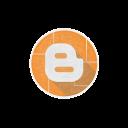 blogger, social, internet, web, network icon