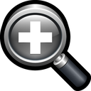 search find, lens, in, zoom icon